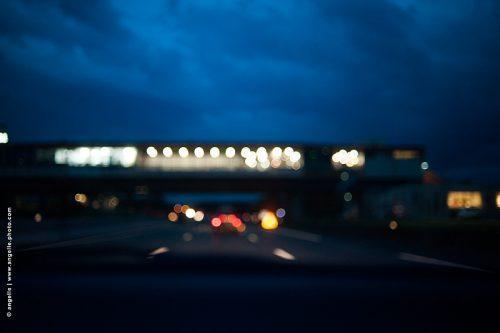 photo ©angelle autoroute pont lentille nuit voyage lumiere reve route