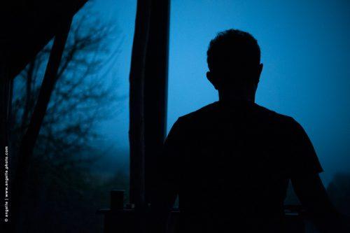 photo © angelle dos nuit aurore crépuscule nuit arbre abris foret lodge méditation serein