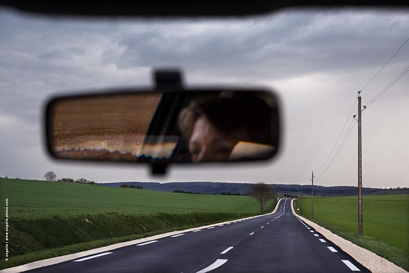photo © angelle voyage route soiree ruban orage campagne